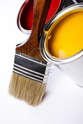 9948818-cans-of-paint-with-paintbrush